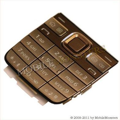 Tastatūra Nokia E52 Kopija A kvalitāte Zelta