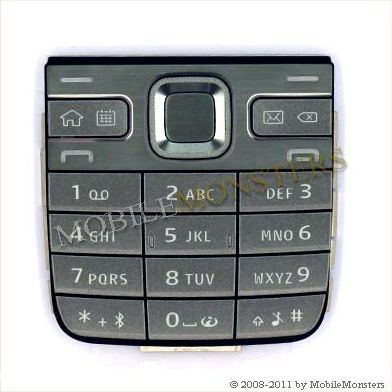 Tastatūra Nokia E52 Kopija A kvalitāte Pelēka