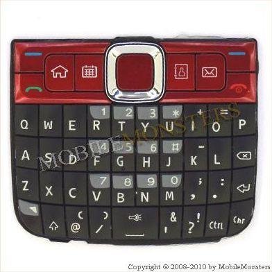 Tastatūra Nokia E63  Sarkana