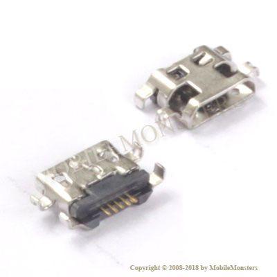 Konektors Alcatel A5 LED USB konnektors