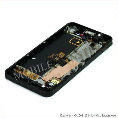 Displejs BlackBerry Z10 3G ar Skārienjūtīgo stiklu un apkart ramiti Melns