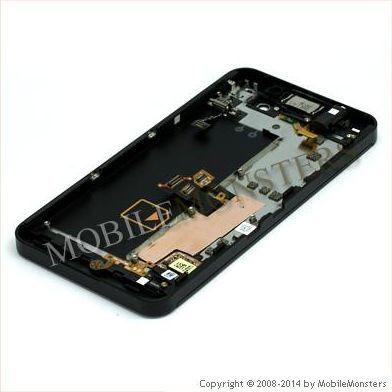 Displejs BlackBerry Z10 4G ar Skārienjūtīgo stiklu un apkart ramiti Melns
