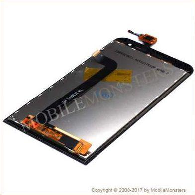 Displejs Asus Zenfone 2 Laser ZE500KL ar Skārienjūtīgo stiklu Melns