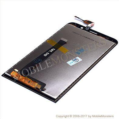 Displejs Asus Zenfone 2 ZE550ML ar Skārienjūtīgo stiklu Melns