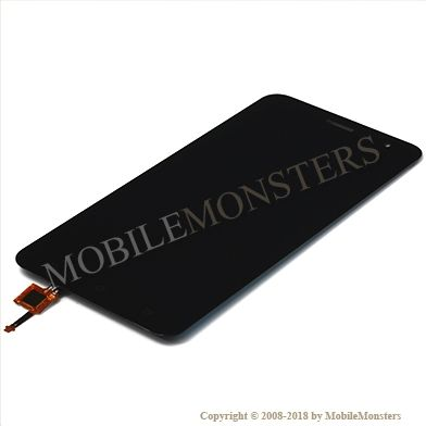 Displejs Asus Zenfone 3 ZE552KL ar Skārienjūtīgo stiklu Melns