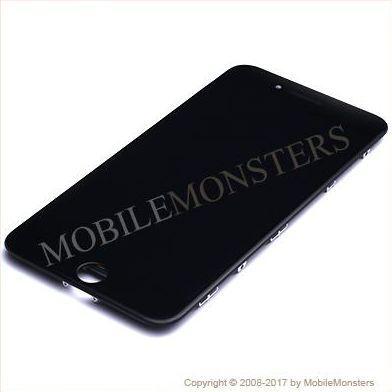 Displejs iPhone 7 Plus (A1784) Kopija HQ, ar Skārienjūtīgo stiklu un apkart ramiti Melns