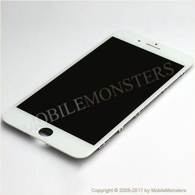 Displejs iPhone 7 Plus (A1784) Kopija HQ, ar Skārienjūtīgo stiklu un apkart ramiti Balts