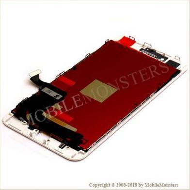 Displejs iPhone 8 Plus (A1897) Kopija HQ, ar Skārienjūtīgo stiklu un apkart ramiti Balts
