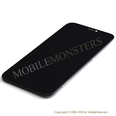 Displejs iPhone X Kopija hOLED kvalitāte, ar Skārienjūtīgo stiklu un apkart ramiti Melns