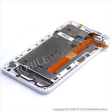 Displejs HTC Desire 516 dual sim ar Skārienjūtīgo stiklu un apkart ramiti Balts