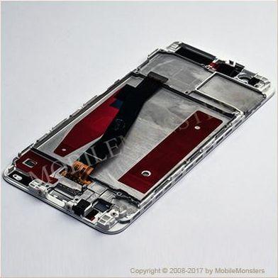Displejs Huawei P10 (VTR-L29) ar Skārienjūtīgo stiklu un apkart ramiti Balts