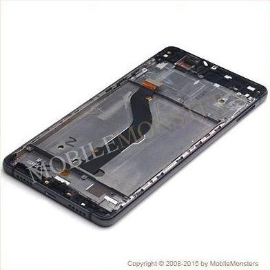 Displejs Huawei P9 Lite (VNS-L21) ar Skārienjūtīgo stiklu un apkart ramiti Melns