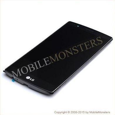 Displejs LG H815 G4 ar Skārienjūtīgo stiklu un apkart ramiti Melns