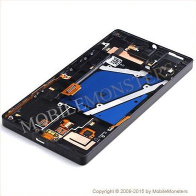 Displejs Nokia 930 Lumia ar Skārienjūtīgo stiklu un apkart ramiti Melns
