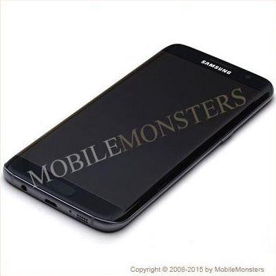 Displejs Samsung SM-G935F Galaxy S7 edge ar Skārienjūtīgo stiklu un apkart ramiti Melns