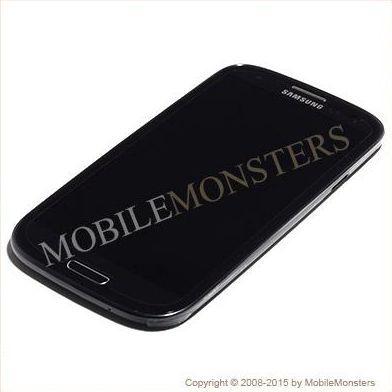 Displejs Samsung i9301i Galaxy S3 Neo ar Skārienjūtīgo stiklu un apkart ramiti Melns