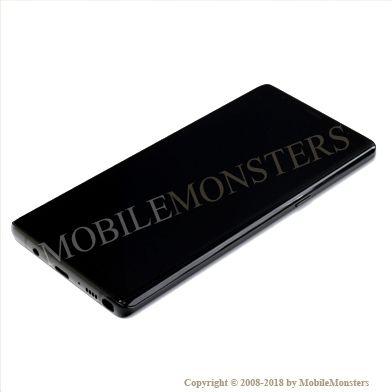 Displejs Samsung SM-N950F Galaxy Note 8 ar Skārienjūtīgo stiklu un apkart ramiti Melns