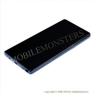 Displejs Samsung SM-N950F Galaxy Note 8 ar Skārienjūtīgo stiklu un apkart ramiti Zils
