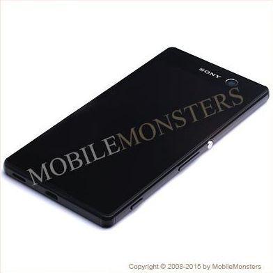 Displejs Sony E5603 Xperia M5 ar Skārienjūtīgo stiklu un apkart ramiti Melns