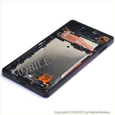 Дисплей Sony F5121 Xperia X с Тачскрином, стеклом и рамкой Чёрный