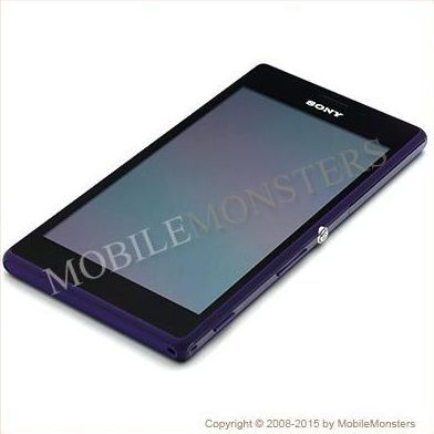 Lcd Sony D2303 Xperia M2  with Touchscreen, lens and front frame Purple