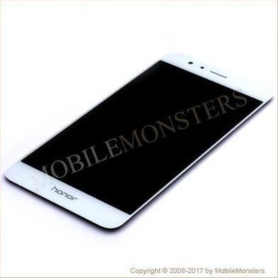 Displejs Huawei Honor 8 (FRD-L09) ar Skārienjūtīgo stiklu Balts