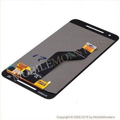 Displejs Huawei Nexus 6P ar Skārienjūtīgo stiklu un apkart ramiti Melns