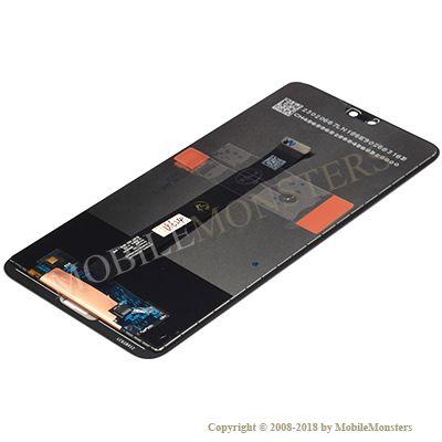 Displejs Huawei P20 (EML-L29) ar Skārienjūtīgo stiklu Melns