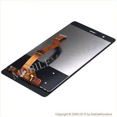 Displejs Huawei P9 (EVA-L19) ar Skārienjūtīgo stiklu Melns