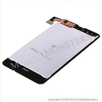 Displejs Nokia 630 Lumia ar Skārienjūtīgo stiklu Melns