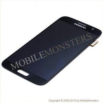 Displejs Samsung SM-G930F Galaxy S7 ar Skārienjūtīgo stiklu un apkart ramiti *Atjaunots* Melns
