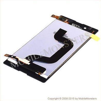 Displejs Sony D2203 Xperia E3 ar Skārienjūtīgo stiklu Melns