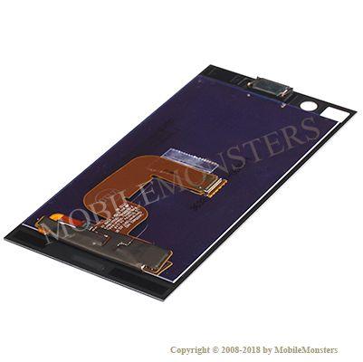 Displejs Sony G8441 Xperia XZ1 Compact ar Skārienjūtīgo stiklu, ar skaļruni Zils