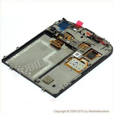 Displejs BlackBerry Q10 ar Skārienjūtīgo stiklu un apkart ramiti Melns