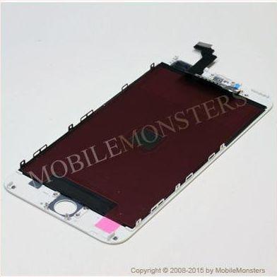 Displejs iPhone 6 Plus (A1524) ar Skārienjūtīgo stiklu un apkart ramiti Balts