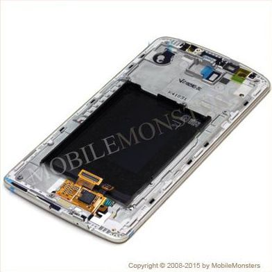 Displejs LG D855 G3 ar Skārienjūtīgo stiklu un apkart ramiti *Atjaunots* Zelts