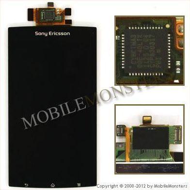 Displejs Sony Ericsson LT15i Xperia Arc ar Skārienjūtīgo stiklu