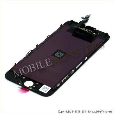 Displejs iPhone 6 (A1586) Kopija HQ, ar Skārienjūtīgo stiklu un apkart ramiti Melns