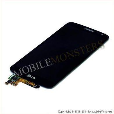 Displejs LG D620 G2 Mini  ar Skārienjūtīgo stiklu Melns