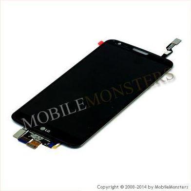 Displejs LG D802 G2 ar Skārienjūtīgo stiklu Melns