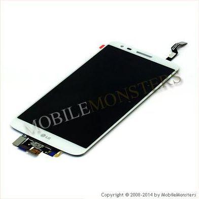 Displejs LG D802 G2 ar Skārienjūtīgo stiklu Balts