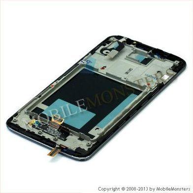 Displejs LG D802 G2 ar Skārienjūtīgo stiklu un apkart ramiti Melns