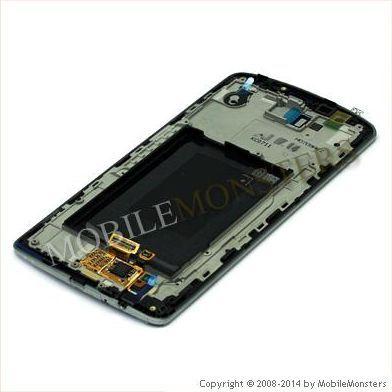 Displejs LG D855 G3 ar Skārienjūtīgo stiklu un apkart ramiti *Atjaunots* Pelēks