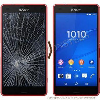 Sony D5803 Xperia Z3 Compact Displeja un stikla maiņa