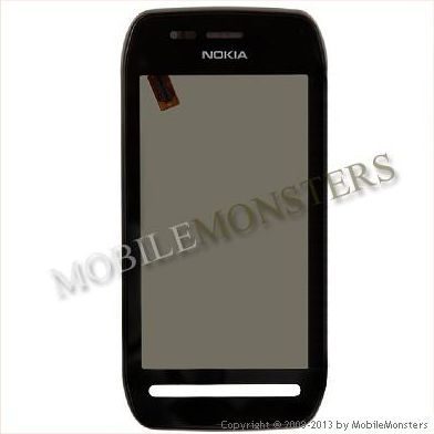 Touchscreen Nokia 603 With frame Black
